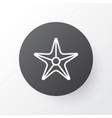 sea star icon symbol premium quality isolated vector image