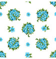 seamless pattern forget-me-not isolated vector image vector image