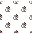 Seamless pattern with doodle cupcakes vector image vector image