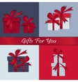 Set gifts Happy Christmas Box with a festive vector image