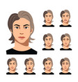 set of a man faces different emotions vector image