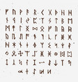 set of old norse scandinavian runes runic vector image