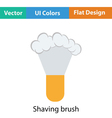 Shaving brush icon vector image
