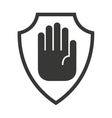 shield isolated insurance icon vector image vector image