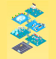 shopping mall isometric infographics vector image vector image
