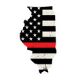 state illinois firefighter support flag vector image