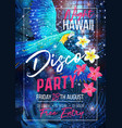 tropical party banner vector image vector image