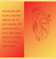 two section poster about human heart vector image