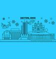 united states dayton winter holidays skyline vector image vector image