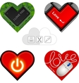 valentine hearts cards vector image vector image