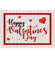 valentines day background with frame and hearts vector image