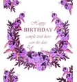 vintage floral garland card birthday or wedding vector image