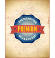 Vintage premium stamp styled label vector image vector image