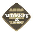 whiskey and scotch factory or brewery isolated vector image vector image