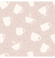 White teacups seamless pattern vector image
