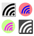 wi-fi flat icon vector image