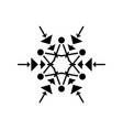 winter snowflake black icon sign on vector image vector image