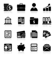 Accounting icons set black vector image