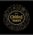 merry christmas party invitations and greeting vector image