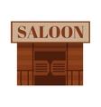 Conceptual cartoon western saloon representing mix vector image