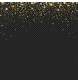 gold snow glitter particles confetti vector image