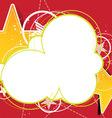 star advertising design vector image