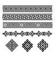 a set black and white geometric designs signs vector image