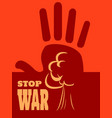 anti war concept vector image