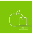 Apple with weights vector image