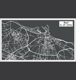 bari italy city map in retro style vector image vector image