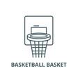 basketball basket line icon basketball vector image