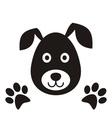 Black dog head vector image vector image