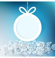 Blue and white winter design EPS 10 vector image vector image