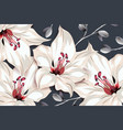 botanical template design pink lily flowers and vector image