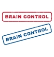Brain Control Rubber Stamps vector image vector image