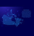 canada map country abstract silhouette from wavy vector image