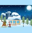 cartoon funny santa claus p vector image vector image