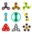cartoon spinner toy color icons set vector image vector image