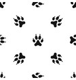 cat paw pattern seamless black vector image