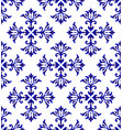 ceramic floral blue pattern vector image vector image