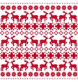 Christmas traditional pattern vector image