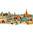 cityscape background seamless pattern for your vector image vector image