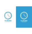 clock logo combination time and watch vector image vector image