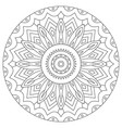 coloring book for adult with mandala outline vector image vector image
