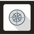 Compass wind rose icon flat style vector image