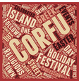 Corfu s Fabulous Festivals text background vector image vector image