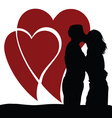 couple in love with heart vector image vector image