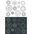 cutting and milling circles set vector image