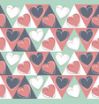 endless pattern with cute hearts vector image