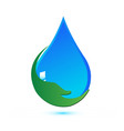 environmental water rain drop icon vector image vector image
